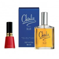Revlon - Charlie Blue Gift Set EDT 100ml 3.3fl.oz + Nail Polish 14.7ml 0.5fl.oz